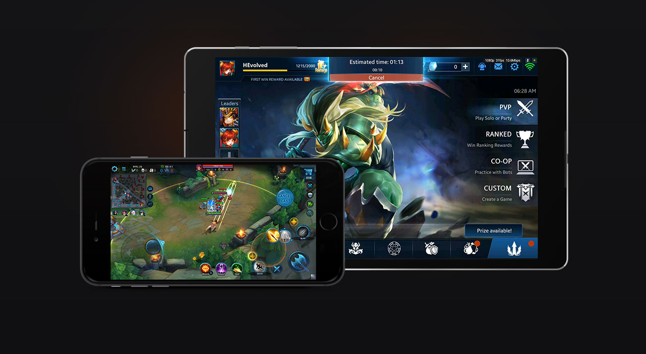PC MOBA ON YOUR PHONE
