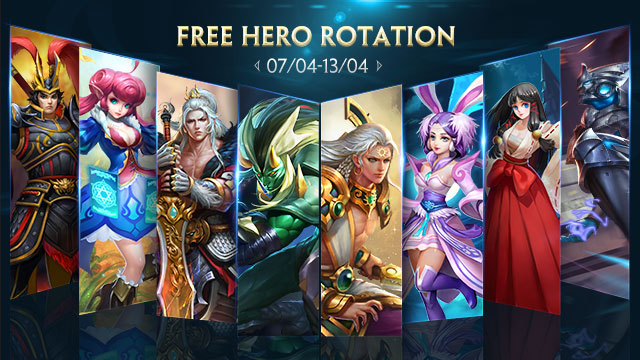 Free Hero Rotation - April 7