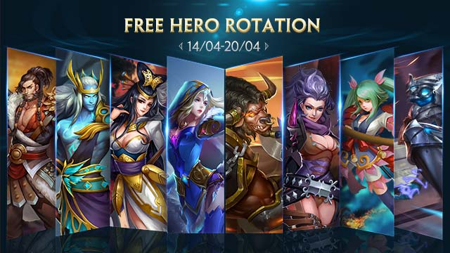Free Hero Rotation - April 14
