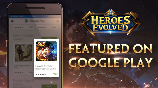 Heroes Evolved Featured on Google Play